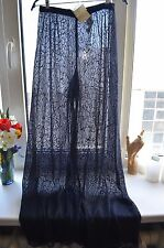 Vintage GIORGIO ARMANI New Sheer Pants Lace Sexy 44 IT Italy Trousers Rare Navy
