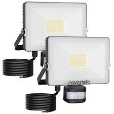 2x LED Fluter mit Bewegungsmelder 30W Außenleuchte Strahler Scheinwerfer IP65 DE