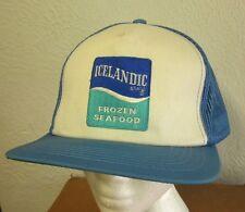ICELANDIC BRAND trucker hat Frozen Seafood snapback cap 1980s logo embroidery OG