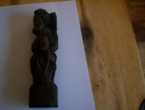 African Carved Wood  tourist piece 19 cms
