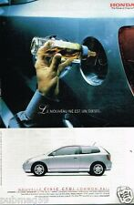 Publicité advertising 2002 Honda Nouveau Civic CTDI Common rail