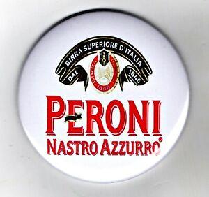"Peroni Nastro Azzurro Fridge Magnet Beer Mat Bar Ale 3"" 75mm Blade  Sub lager"