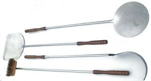 PIZZA PEEL & WOOD OVEN TOOLS STAINLESS STEEL SET 1.3 & 1.5M LONG