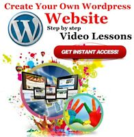 Video Courses Web Designing WordPress Training Lessons Build Website Tutorials
