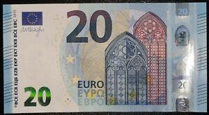 N1 FRANCE 20 Euro 2015, UC-serie UNC, DRAGHI Sign, Printer U003C3