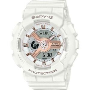 Casio Baby-G White/Rose Gold Analogue/Digital Watch BA110RG-7A BA-110RG-7ADR