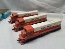 Athearn HO Gauge 3 GE Diesel Road Locomotives 2 Powered 1 Dummy ROAD #5004 boxes