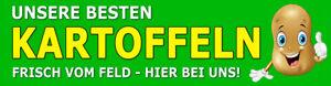 "Banner od. Aufkleber ""KARTOFFELN FRISCH VOM FELD"" PVC-Banner Spanntransparent V2"