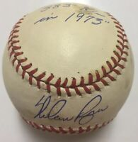 NOLAN RYAN Signed Autographed Baseball Beckett BAS Q69585 383 Ks In 1973 Inscrip