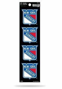 Rico The Quad Set of 4 Decals Stickers 2x2 Inches MLB New York Rangers New