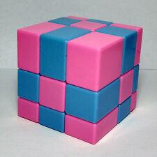 2 Color Mirror Face Speed Magic Cube Twist Puzzle Kid's Brain Training/Contest