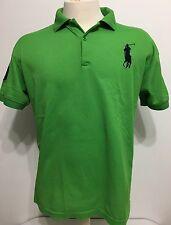 Polo By Ralph Lauren Green Rugby Shirt Men Short Sleeve Size XL