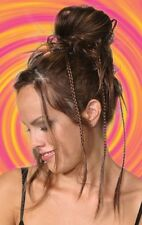BRAIDED SCRUNCHIE PONYTAIL HOLDER HAIRPIECE EXTENSIONS CURLY STRAIGHT HAIR WOMEN