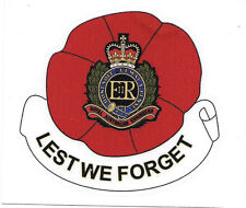 RAE LEST WE FORGET ROYAL AUSTRALIAN ENGINEERS LAMINATED VINYL STICKER 94MM HIGH
