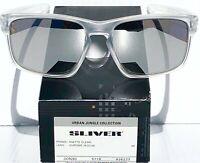 NEW* Oakley SLIVER Matte Clear w Chrome Iridium Sunglass oo9262-23