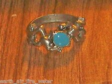 PEWTER FROG RING OF SUPREME POWERS~size 5 & 5.5  CERT OF AUTHENTICITY