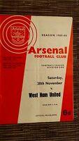 1965/66 FOOTBALL LEAGUE: ARSENAL v WEST HAM - 20th NOVEMBER