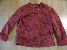 SANDWICH schöne Jacke rotbraun Blumenmuster Bikerstil Gr. 40 NEU ZC216