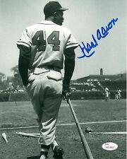 Braves Henry HANK AARON Signed 8x10 AUTO Photo #1 AUTO ~ HOF '82  1957 MVP - JSA