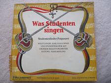 Vinyl7inch Was Studenten singen Potpourri German Press EP 1961 gut