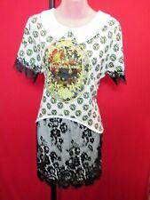 Designer ANNA DELLO RUSSO Rare Aristocracy Kings Crown Inset Schoolgirl Dress XL