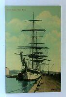 New York City NY Dock Scene Ship Vintage Postcard