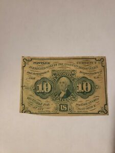 10 CENT FIRST ISSUE FRACTIONAL CURRENCY SUPER CLEAN