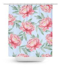 Floral Waterproof Bathroom Shower Curtain RollerRings Hook - FL-SCTD63C