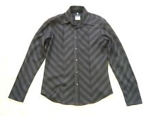 Versus Versace gents/mans long sleeve wool shirt Black/dark grey chevron Size M