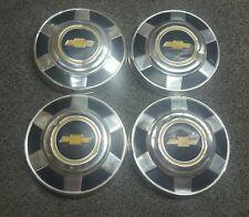 "Set of 4 OEM 1973-1987 Chevy GMC 3/4 1 Ton Pickup Truck Van 12"" Dog Dish Hubcaps"