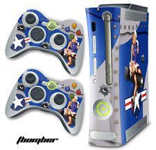 Skin Decal Wrap for Xbox 360 Original Gaming Console & Controller Xbox360 TBOM U