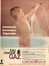 K- Publicité Advertising 1965 Eau Chaude Gaz de France