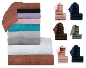 12x Pack 100% Egyptian Cotton Luxury Soft Face Towels Flannels Wash Cloths