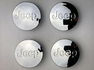 Set of 4 JEEP Chrome Mirror alloy wheel caps 56mm