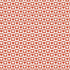 Printed Bow Fabric A4 Red & White Love Heart Pattern LH5 Make glitter bows