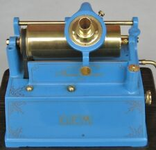 Edison GEM Phonograph in BLUE with GOLD - PLATED fittings --  Stunning !!