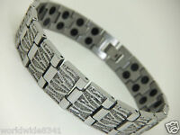 Womens Stainless Steel Magnetic Bracelet In Gift Pouch **Twin Magnets**Arthritis