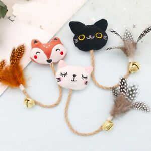 Cat Soft Feather Toy with Rope and Catnip Bell *AU Stock