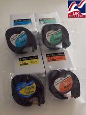 Cinta 91202 Amarillo 91203 Rojo 91204 Verde 91205 Azul Para Dymo Letratag Rotuladora