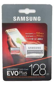 SAMSUNG EVO Plus 128GB Micro SD Card SDXC Class 10 Flash Memory Card with Adapte