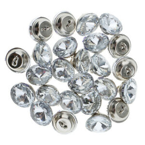 25pcs Crystal Rhinestone Sewing Buttons for Upholstery Headboard Sofa Decoration