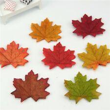 100pcs Artificial Silk Maple Leaves Multicolor Flower Leaf Scrapbooking Wedding
