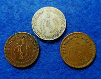 West Virginia Coal Scrip Lot: 3 different $.01 tokens,Koppers Stores,Beards Fork