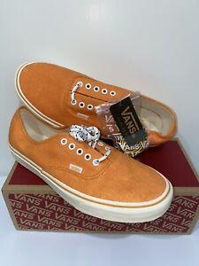 J. Crew x Vans Authentic Shoes Sneakers Washed Canvas Bright Orange Mens Size 12