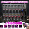 12 Channel Pro Live Studio Audio Sound Mixer USB Mixing bluetooth DJ Console KTV