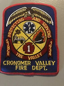 Cronomer Valley Fire Dept  NY  Fire  Patch