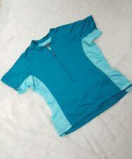 Novara Women'S Cycling Short Sleeve Shirt Half Zip Spandex Xl Green