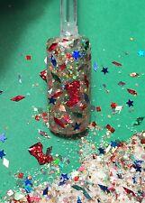 glitter mix nail art acrylic gel Christmas   SANTA'S BOOTIES