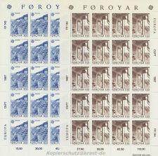 EUROPA CEPT 1987 ARCHITEKTUR - FÄRÖER FOROYAR 149-50 KLEINBOGEN **