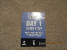 England v Australia  Ist Investec Ashes Test 8/7/2015 Cardiff  Event Staff Pass.